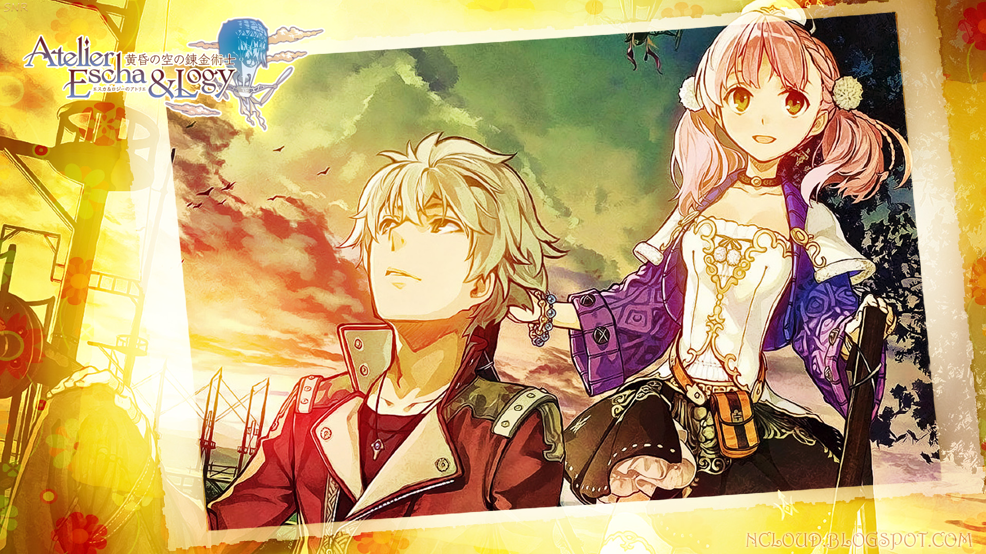 Games Movies Music Anime My Atelier Escha and Logy Wallpaper 1920x1080