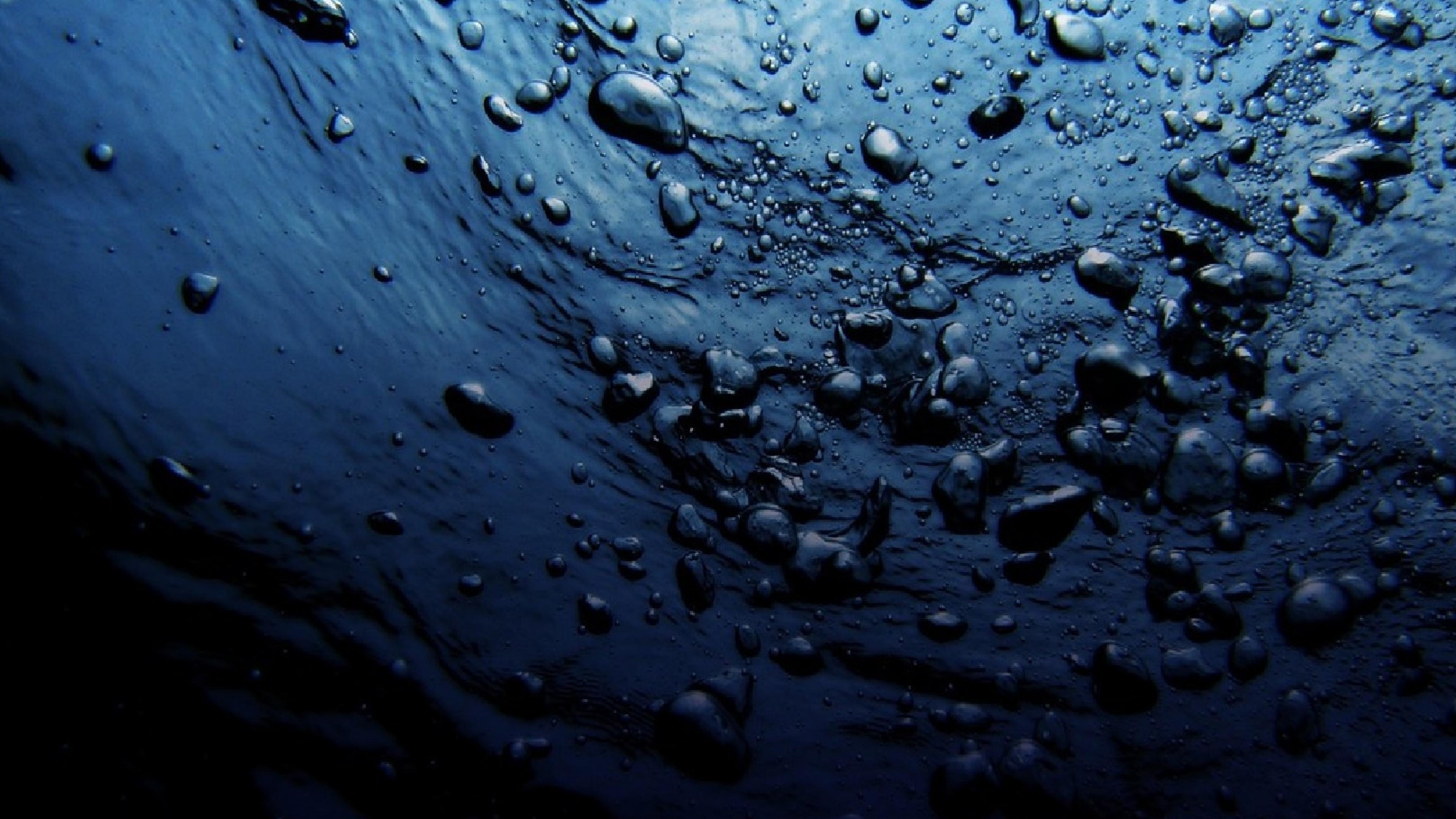 Download Wallpaper 3840x2160 Water Drops Dark 4K Ultra HD HD 3840x2160