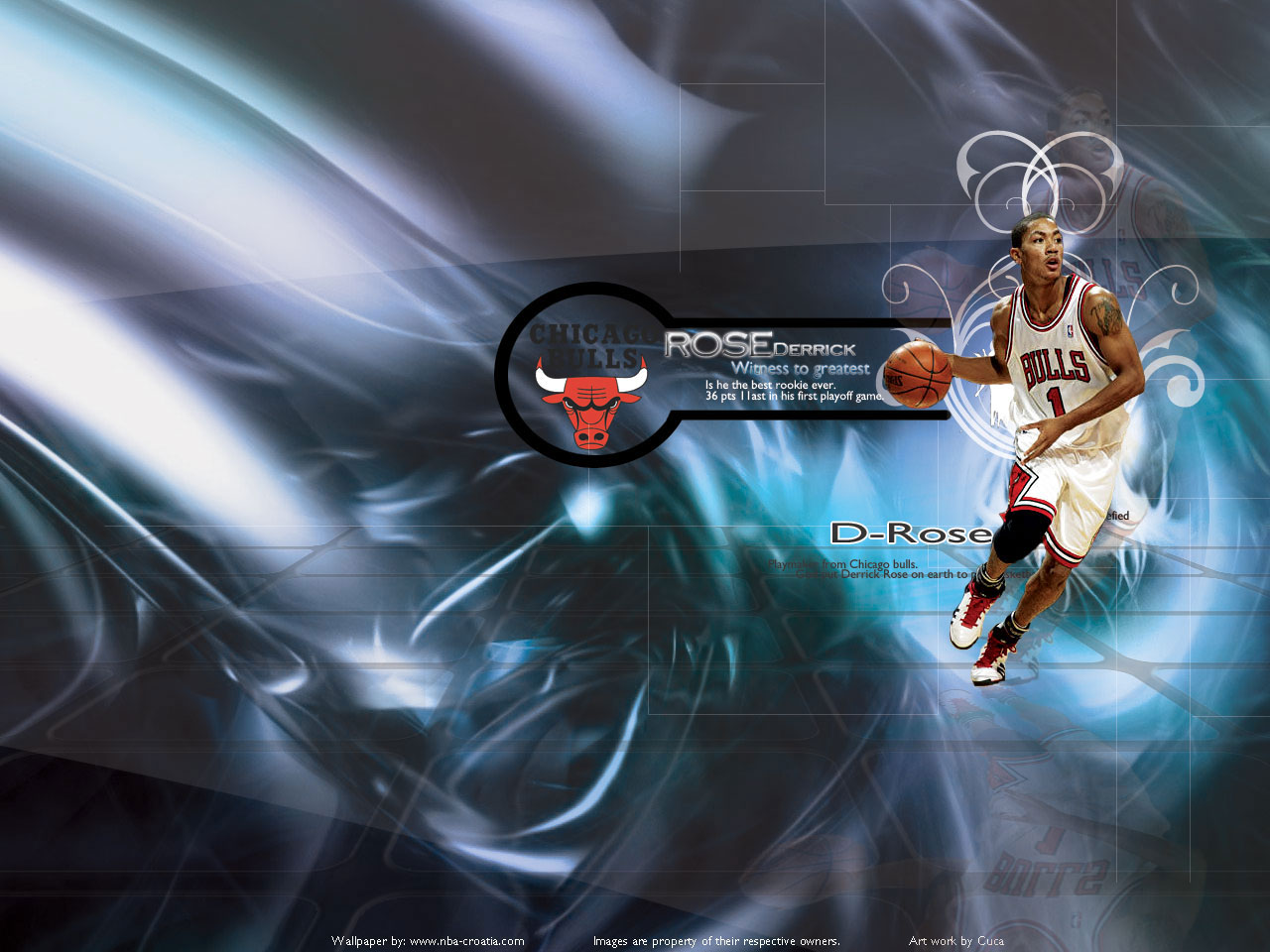 Derrick Rose 1st Playoff Game Wallpaper Basketball Wallpapers at 1280x960