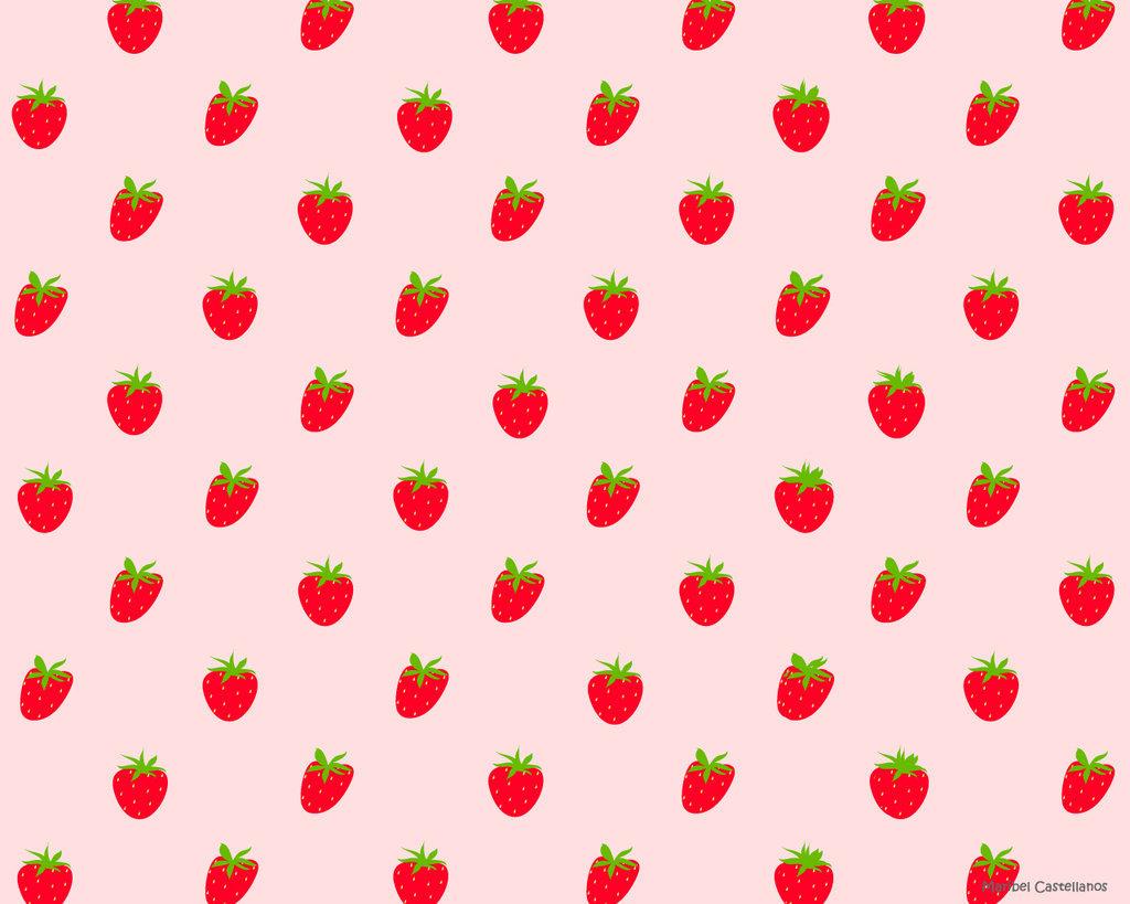 42 Kawaii Strawberry Wallpaper On Wallpapersafari