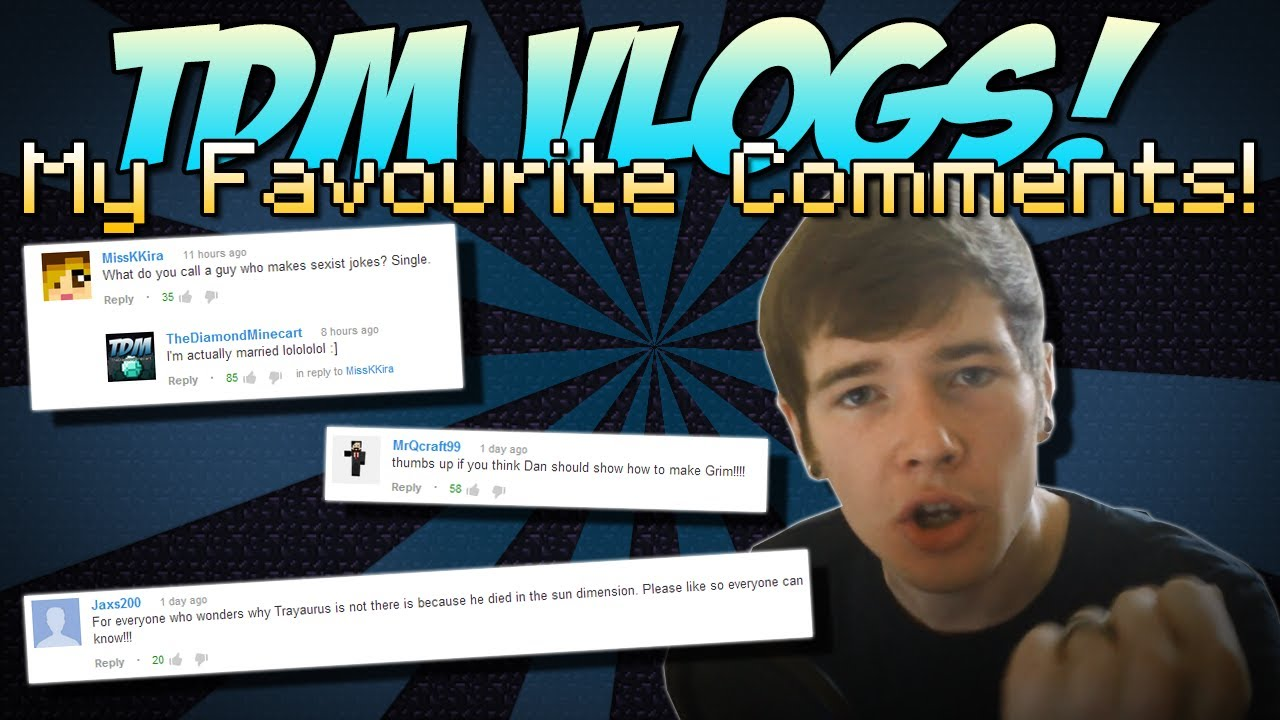 TDM Vlogs My Favourite Comments Cube World How to Make Grim 1280x720