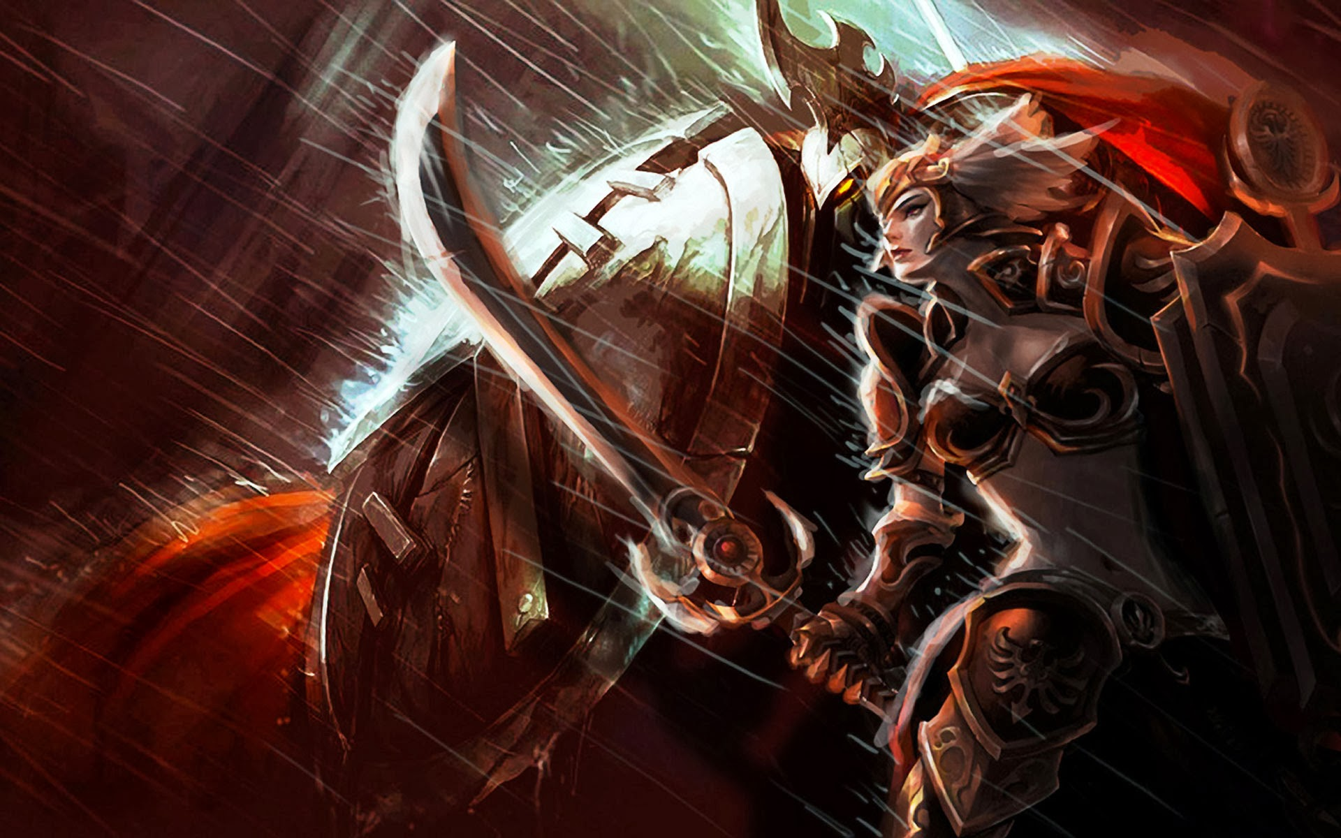 Download Pantheon Leona Skin Splash League Of Legends Hd Wallpaper