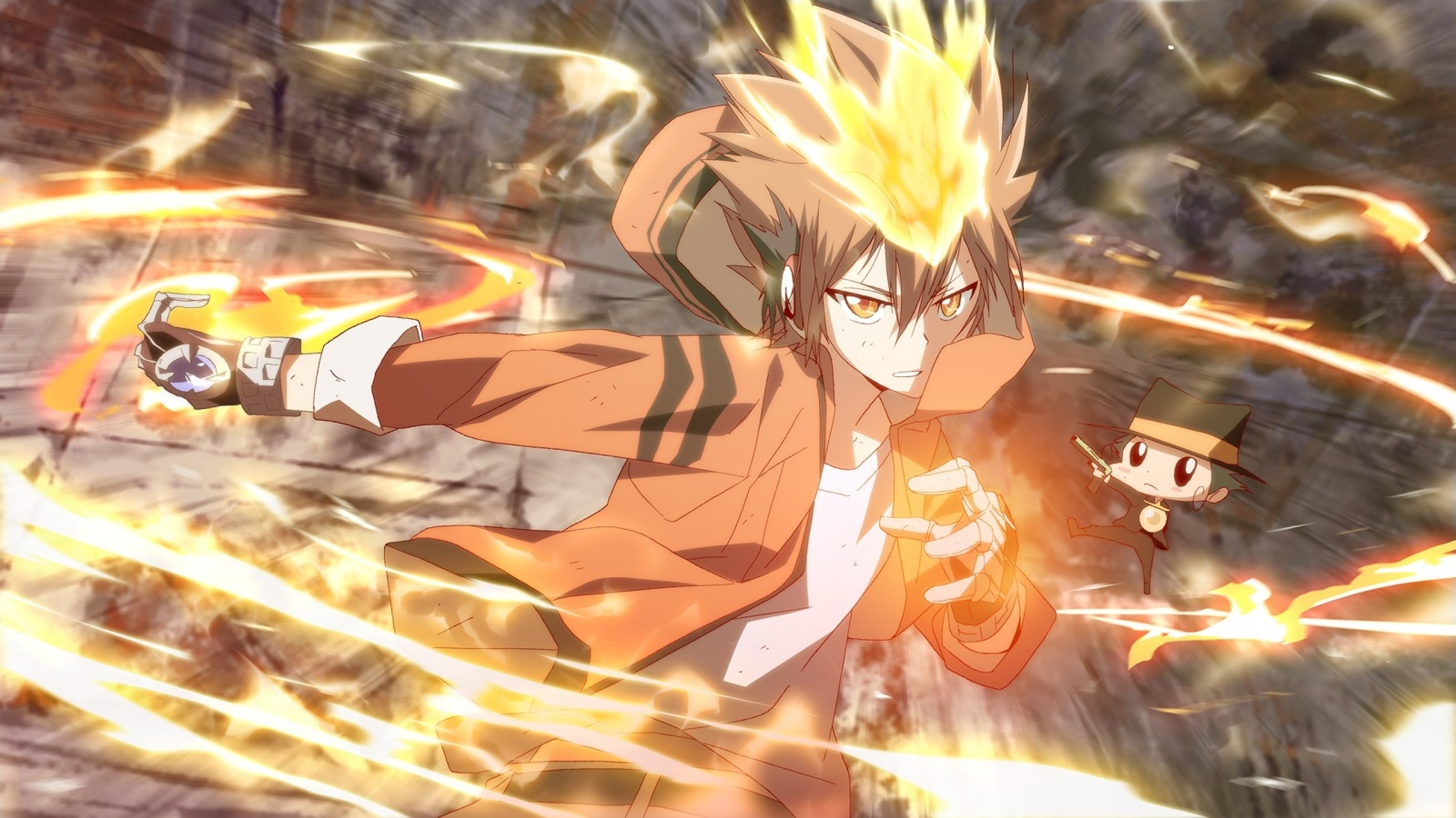 katekyo hitman reborn gloves reborn sawada tsunayoshi anime dying will 2560x1440