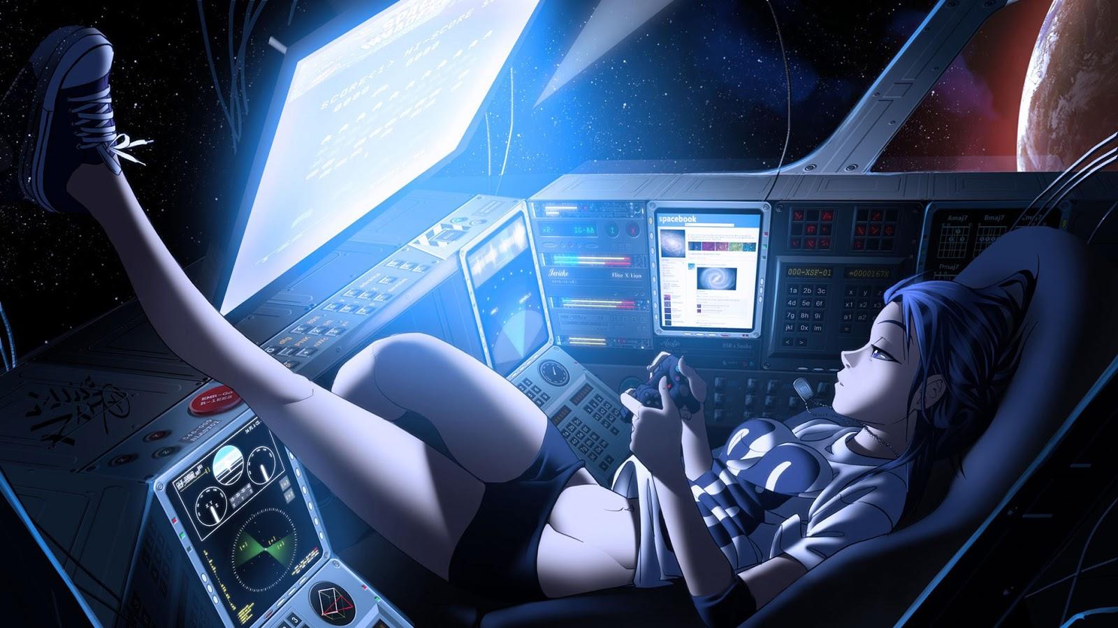 Games Nigh Girl Female Anime HD Wallpaper Desktop PC Background 2010 1600x900