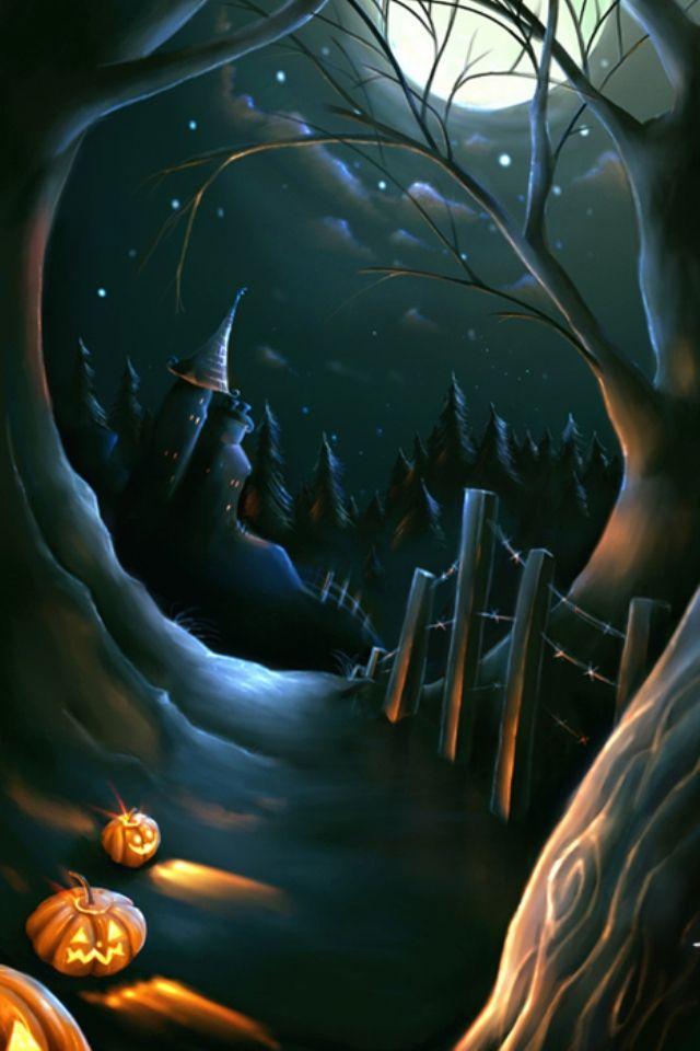 Halloween night iphone wallpaper Halloween Cell Phone Wallpaper 640x960