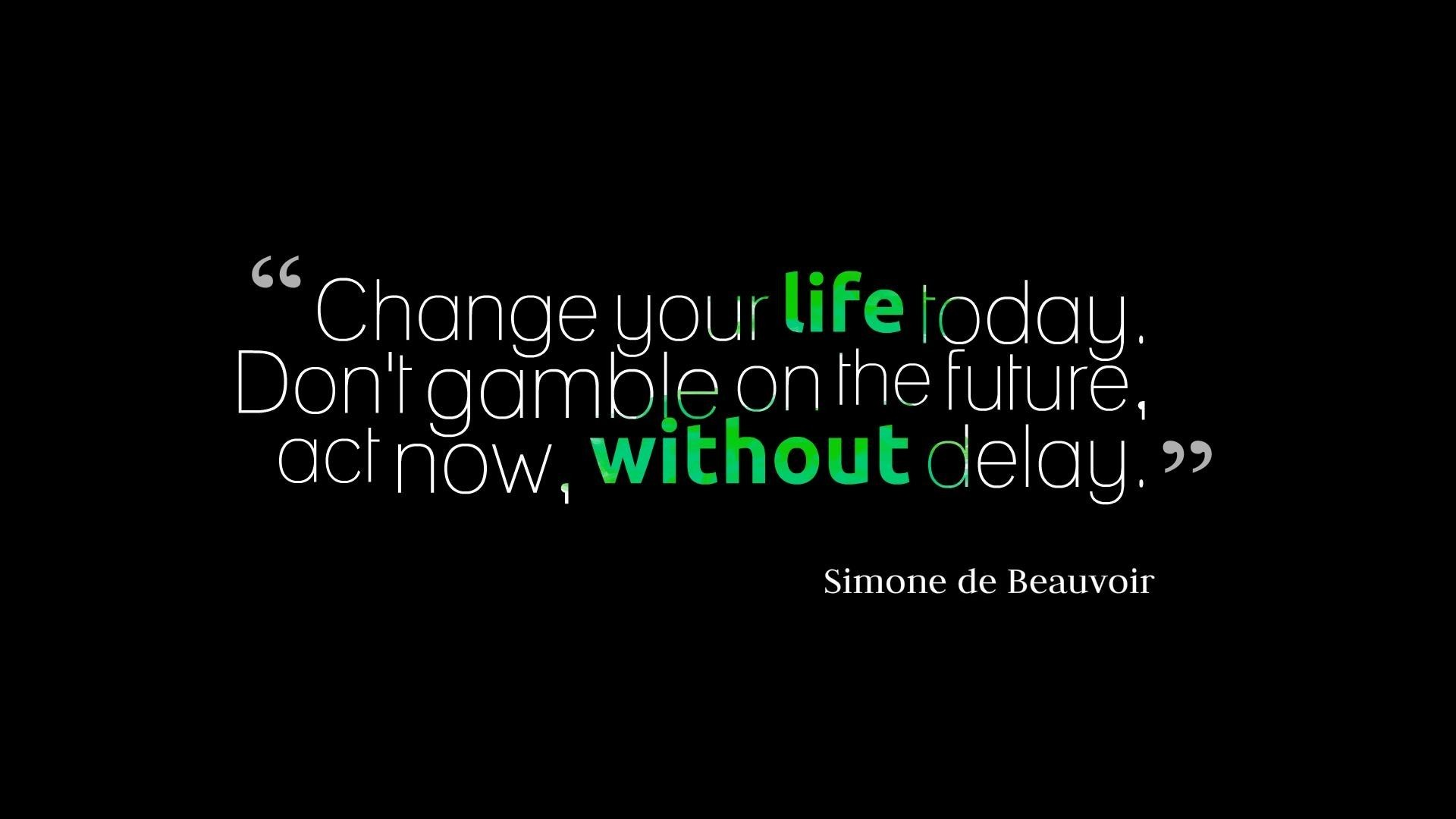 Text Quotes Today Change Motivational Wallpaper   MixHD wallpapers 1920x1080