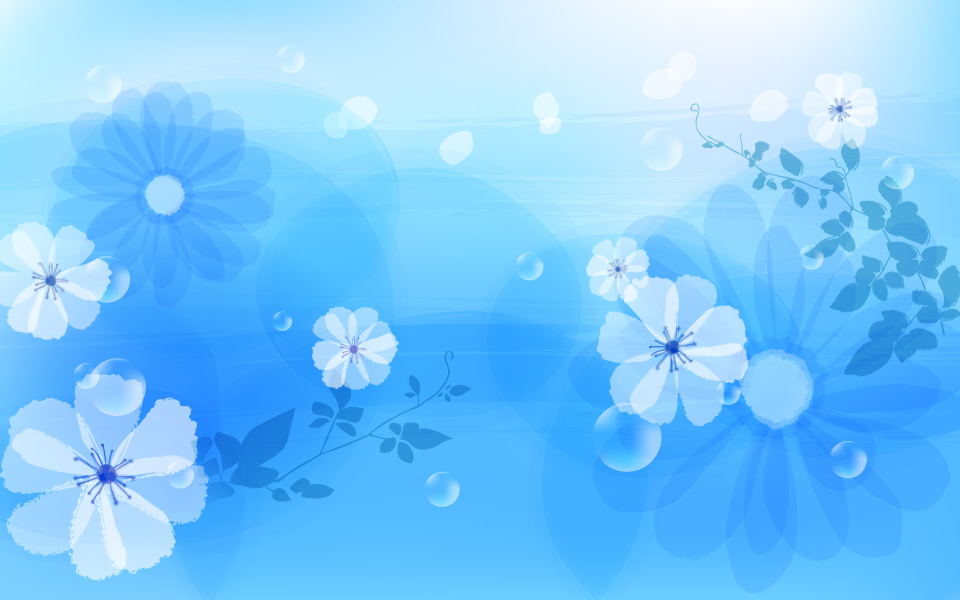 blue floral background images  free pictures 1920x1200
