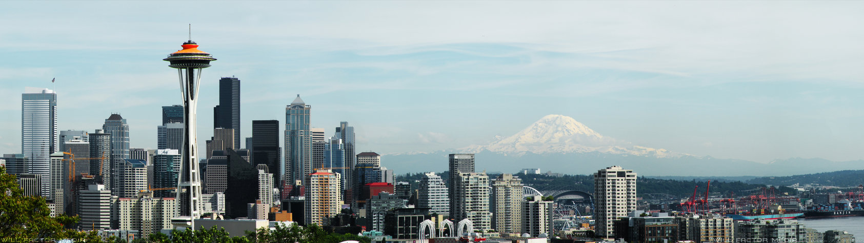 Dual Monitor 3840x1080 Seattle Wallpaper by WillFactorMedia on 1685x474