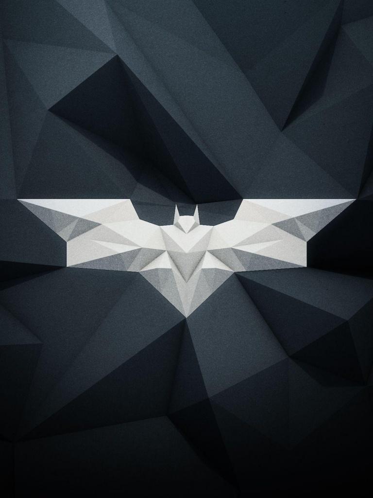 768x1024 Modern Batman Logo Ipad Wallpaper