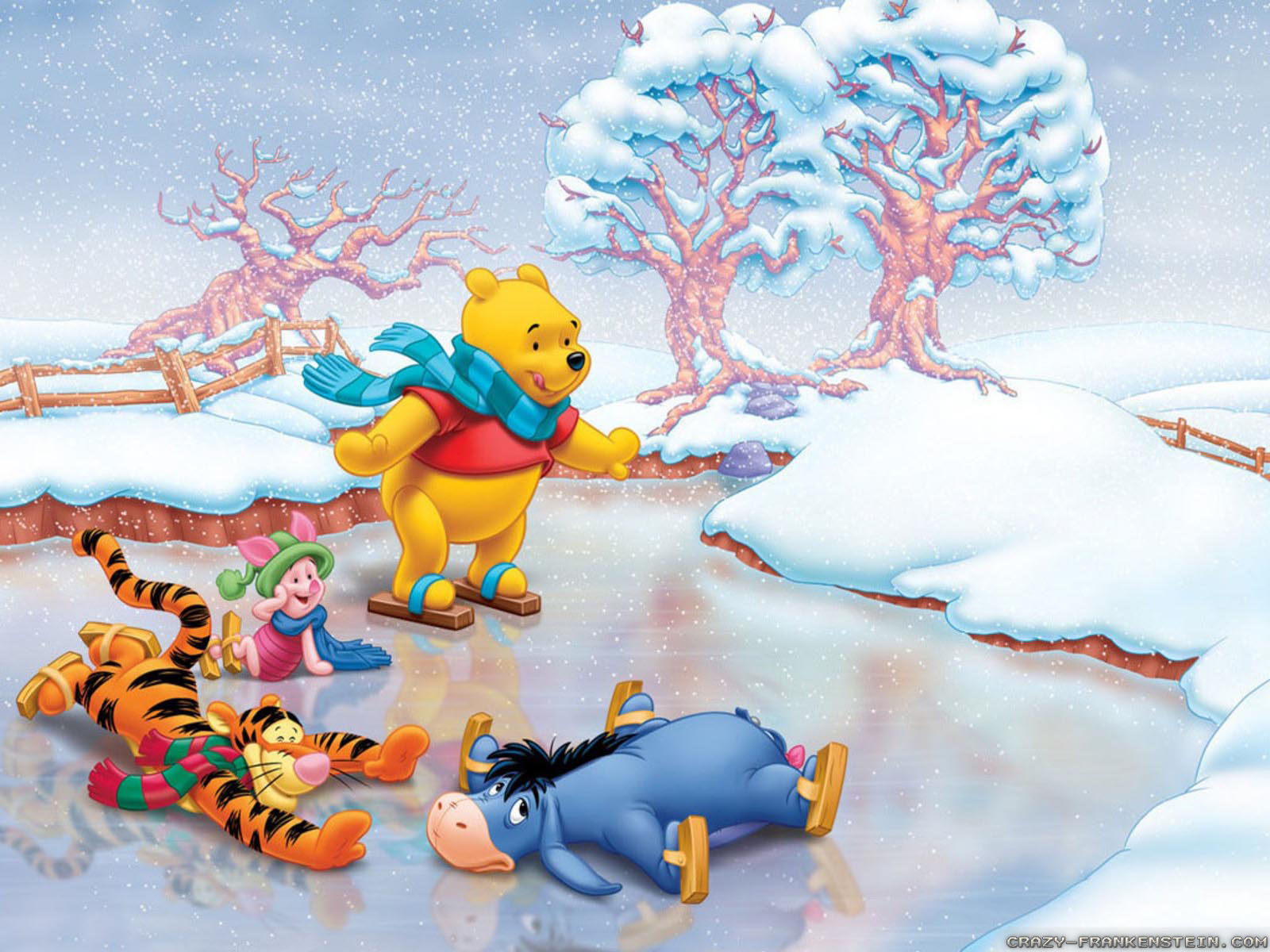 Winnie The Pooh Christmas wallpapers - Crazy Frankenstein