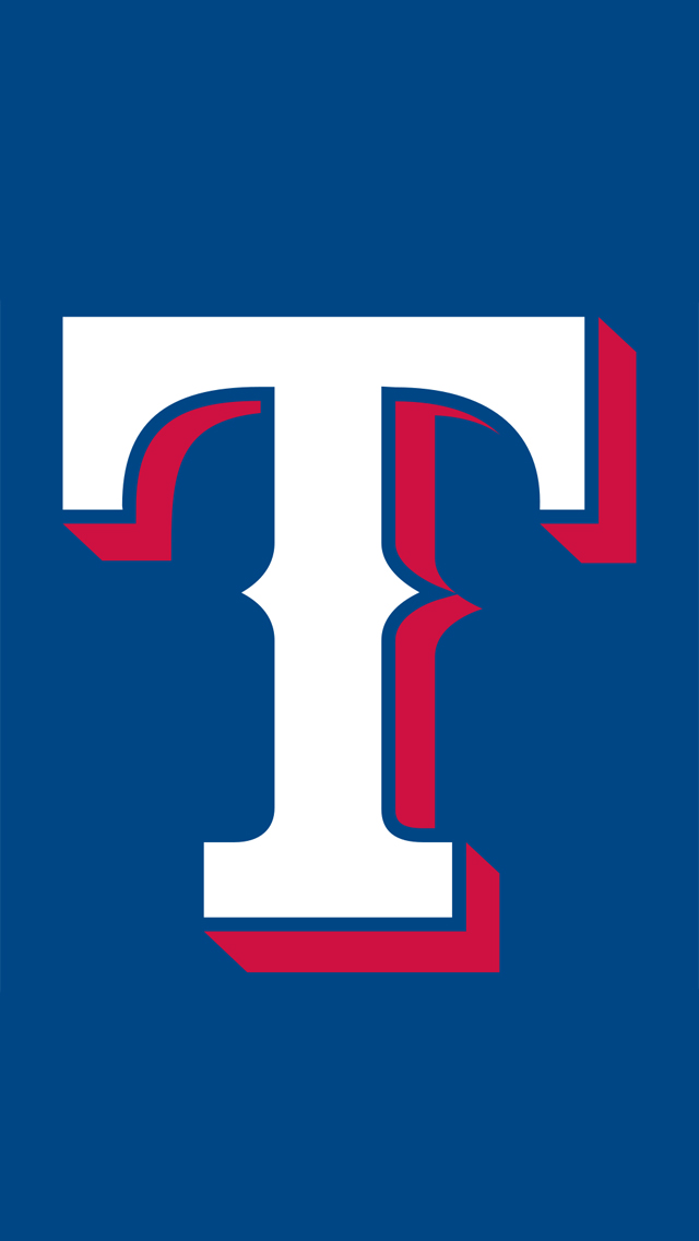 Texas Rangers logo Wallpaper 640x1136