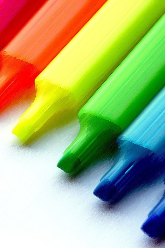 iphone wallpapers hd awesome cute colorful pencil iphone wallpapers 640x960