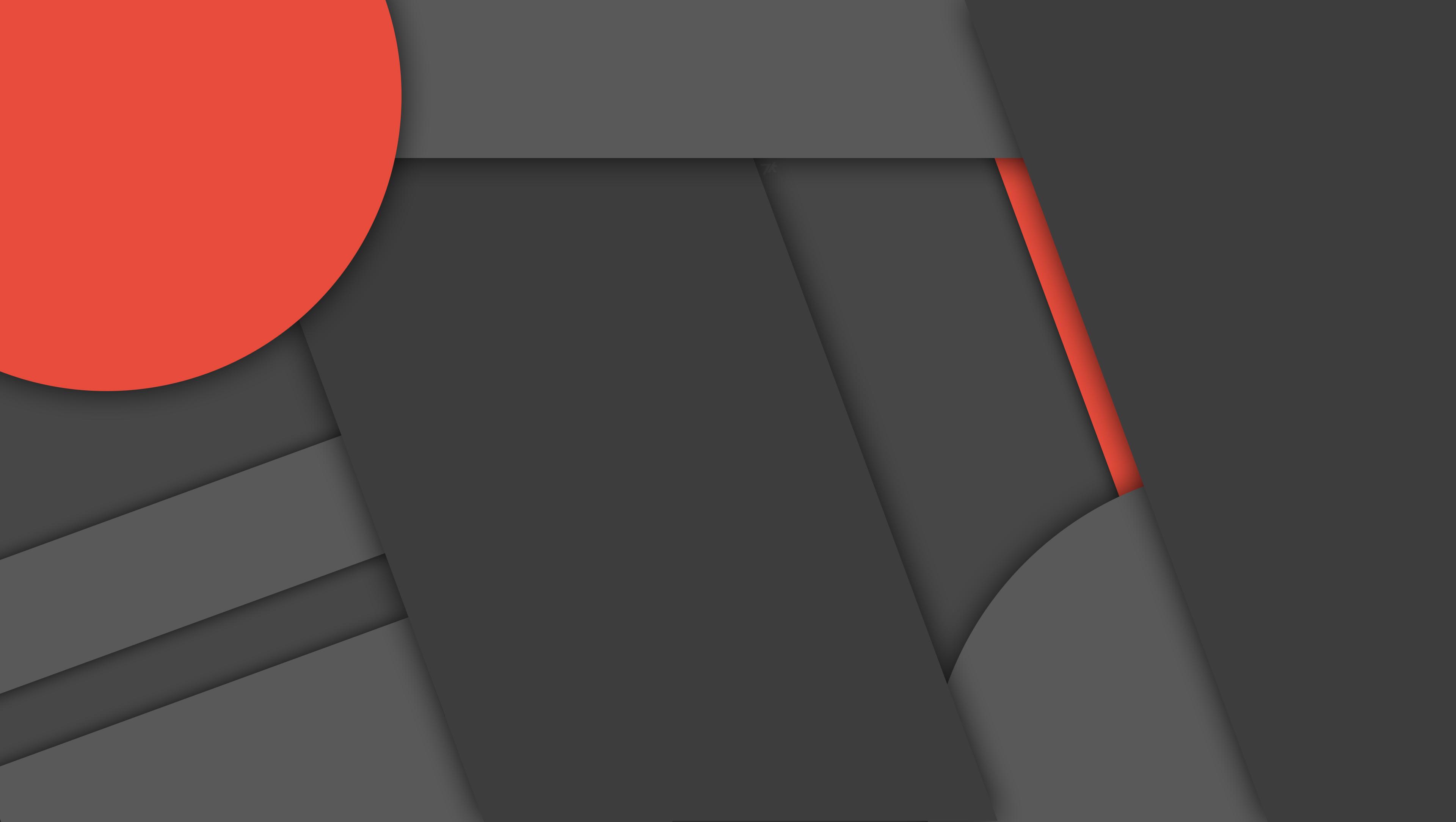 ] Dark Material Design Wallpaper 2 4K by DaKoder 3840x2169