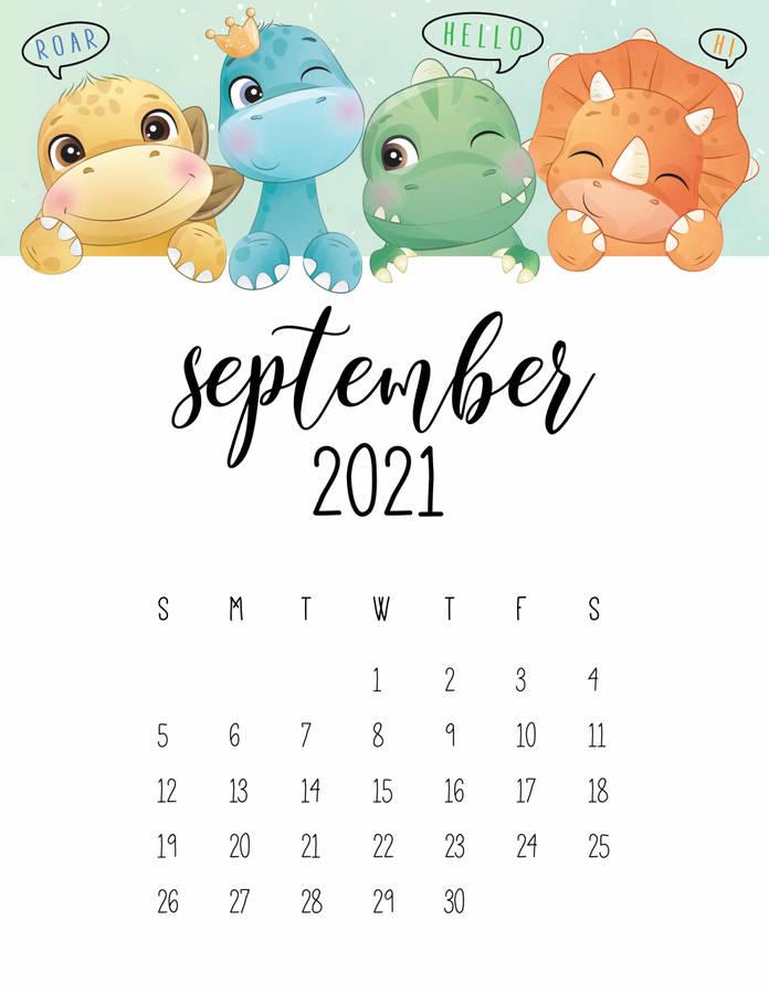 Download Dinosaurs September Calendar 2021 Wallpaper Wallpaperscom 696x900