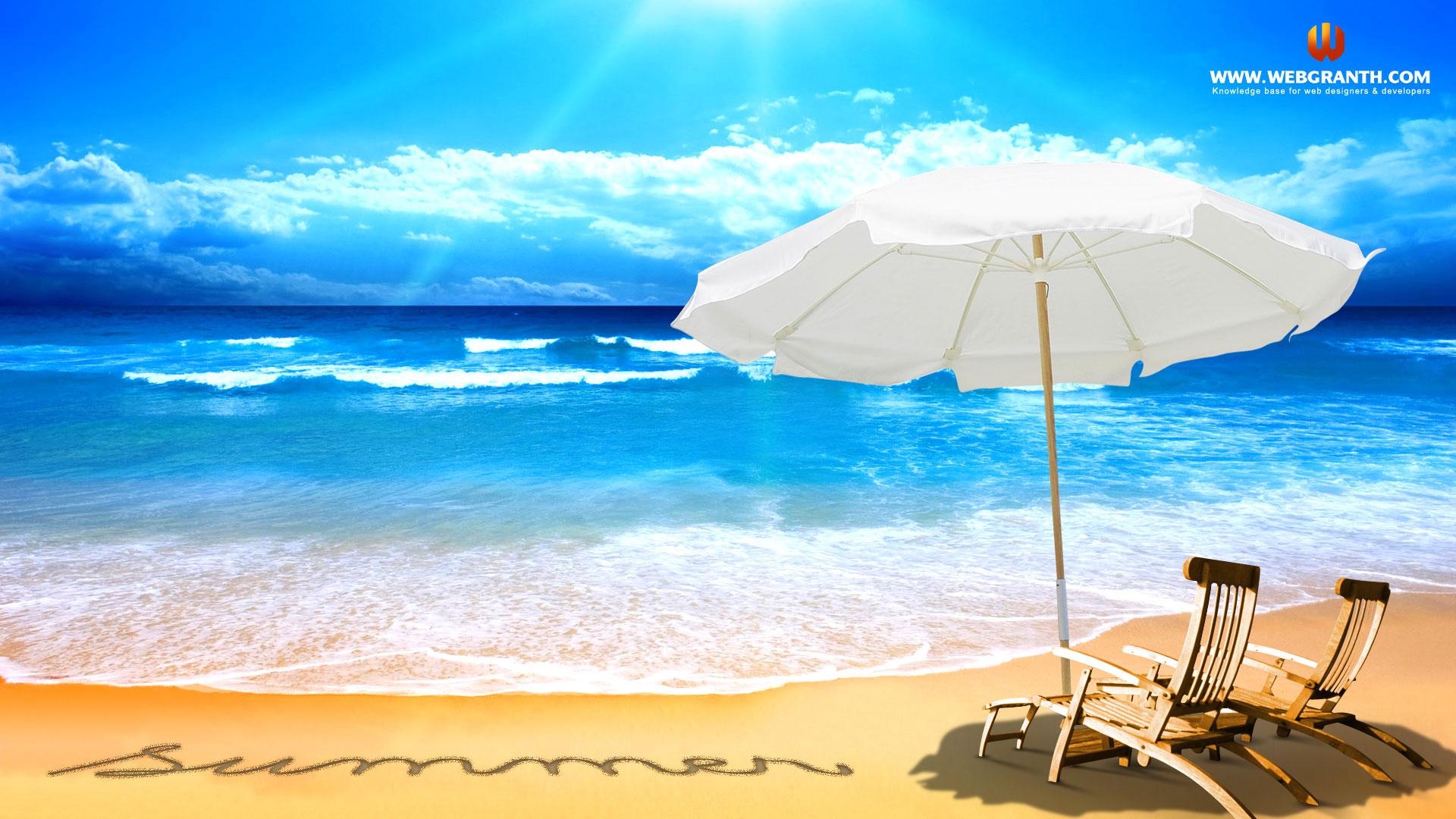 Free Summer Beach Wallpaper Wallpapersafari
