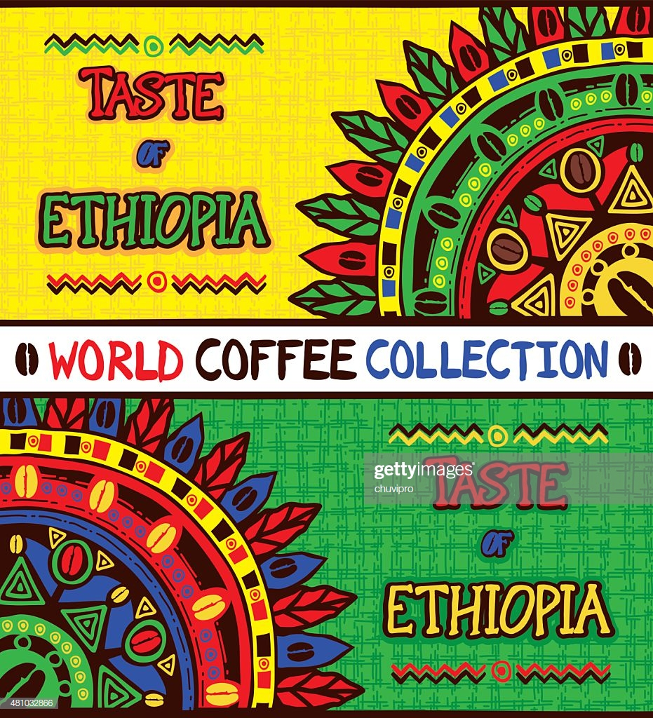 Coffee Background Taste Of Ethiopia Hand Drawn Design Elements 931x1024
