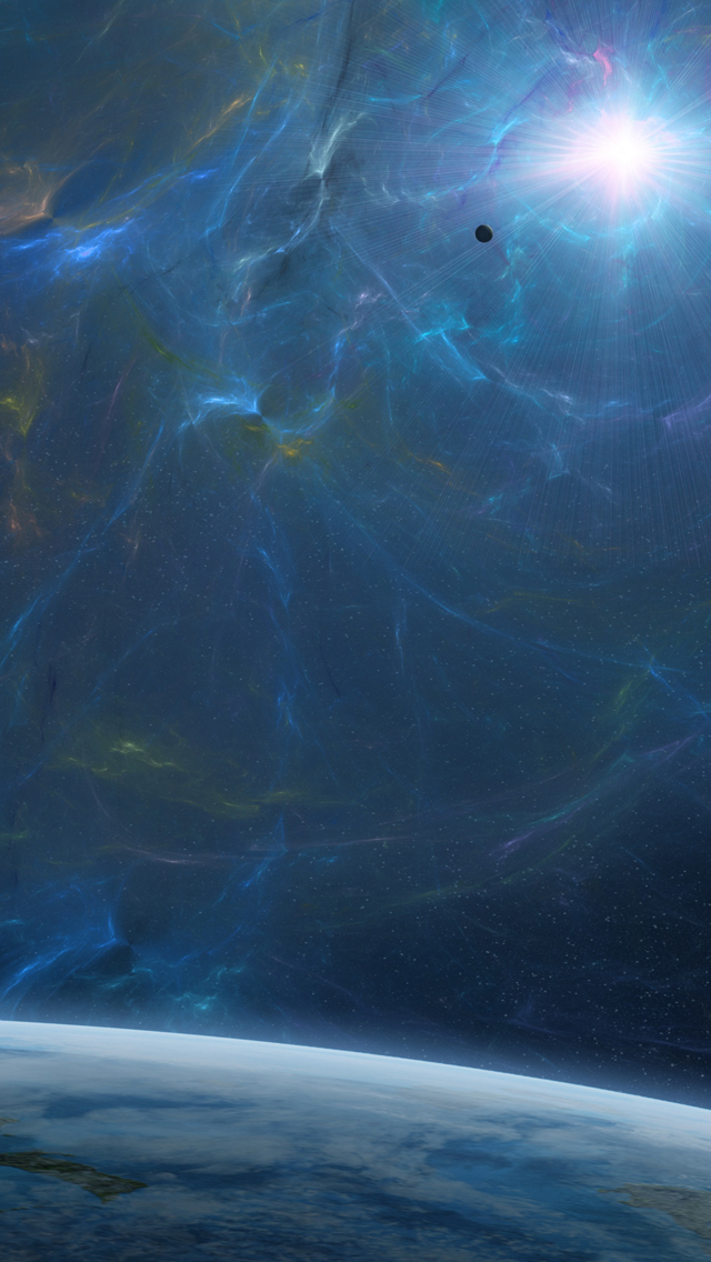 Fantasy blue space iPhone 5s Wallpaper Download iPhone Wallpapers 640x1136