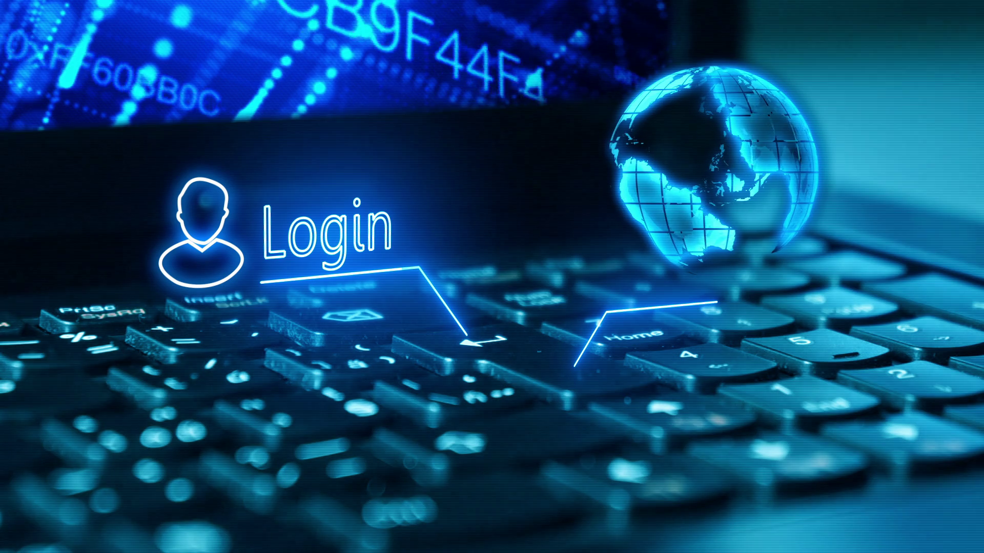 Log on to your bank account on a laptop Logging in with security 1920x1080