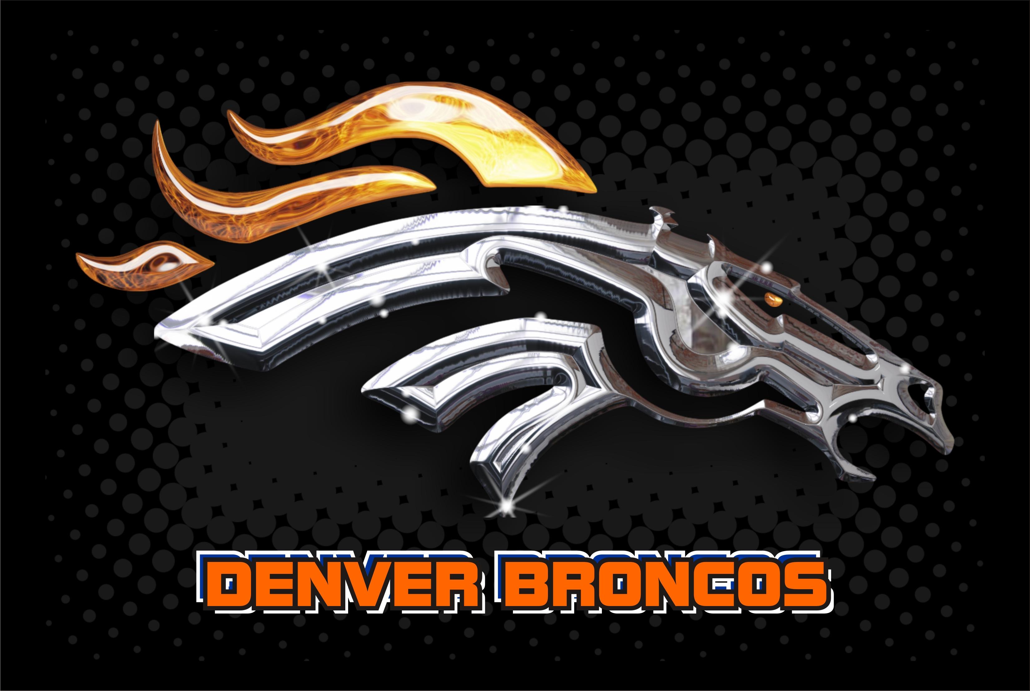 Denver Broncos 2014 NFL Logo Wallpaper 3299x2212