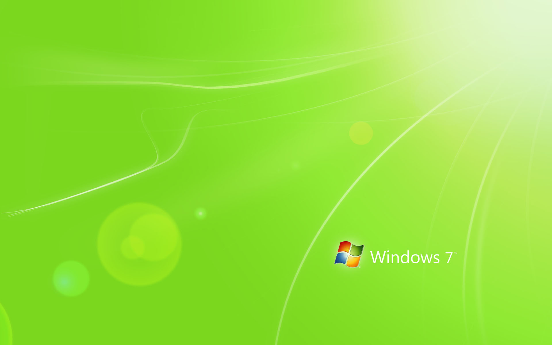 Windows 7 Green Wallpaper High Resolution 1920x1200