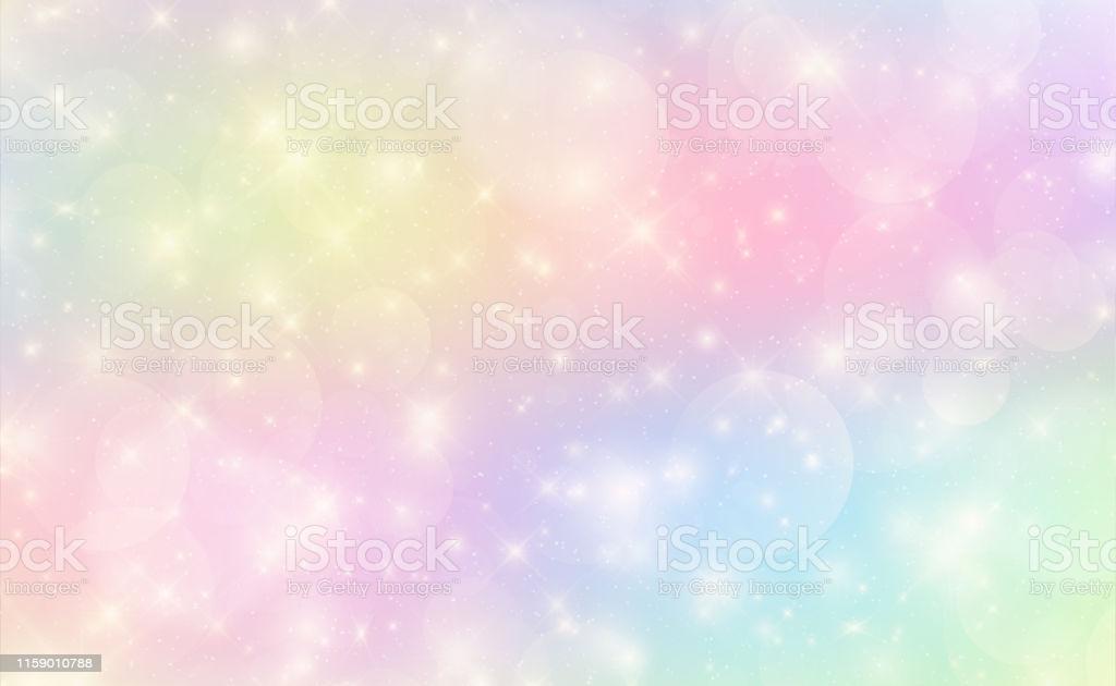 Kawaii Background With Rainbow Princess Gradient Stock 1024x630