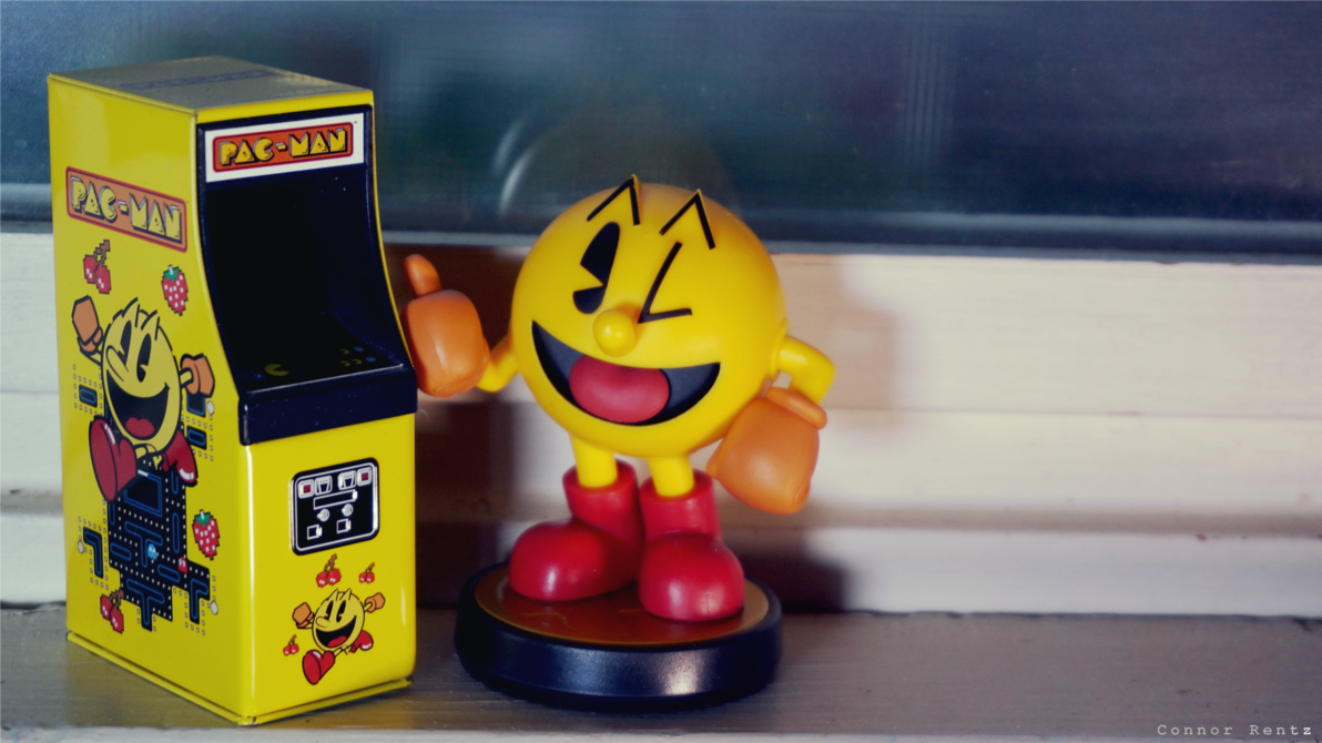 Amiibo Wallpaper   Pac Man Arcade by MachRiderZ 1192x670
