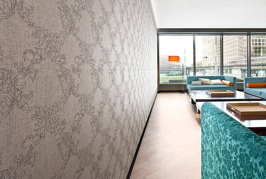 Carnegie Xorel Silhouette Embroider Wallcovering design Wall 920x619