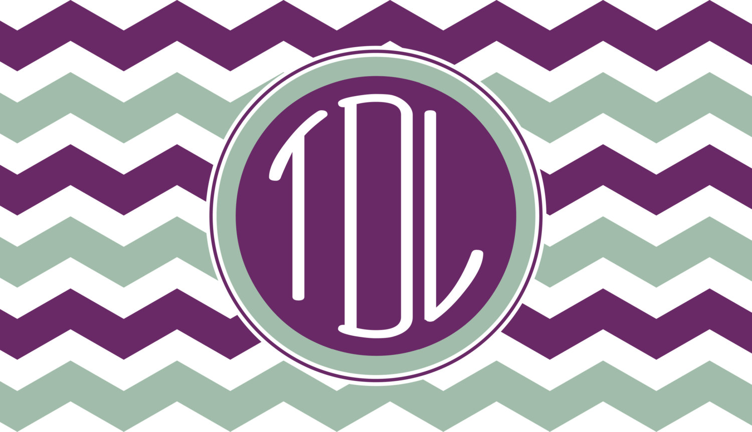 Items similar to Monogrammed Chevron Computer Wallpaper on Etsy 1500x863