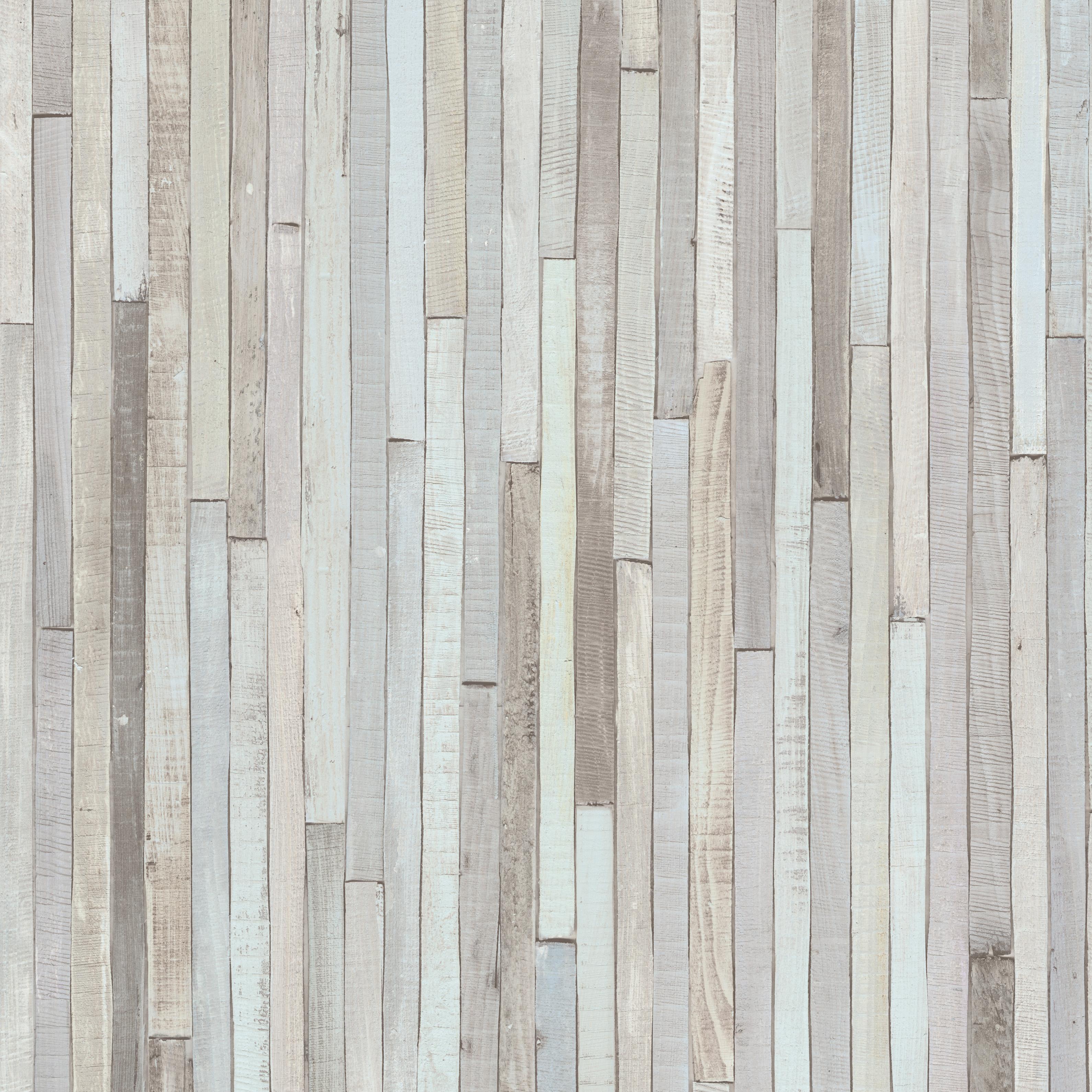 Pastel Purple Pink Green Blue Timber Wood Look: Distressed Wood Wallpaper