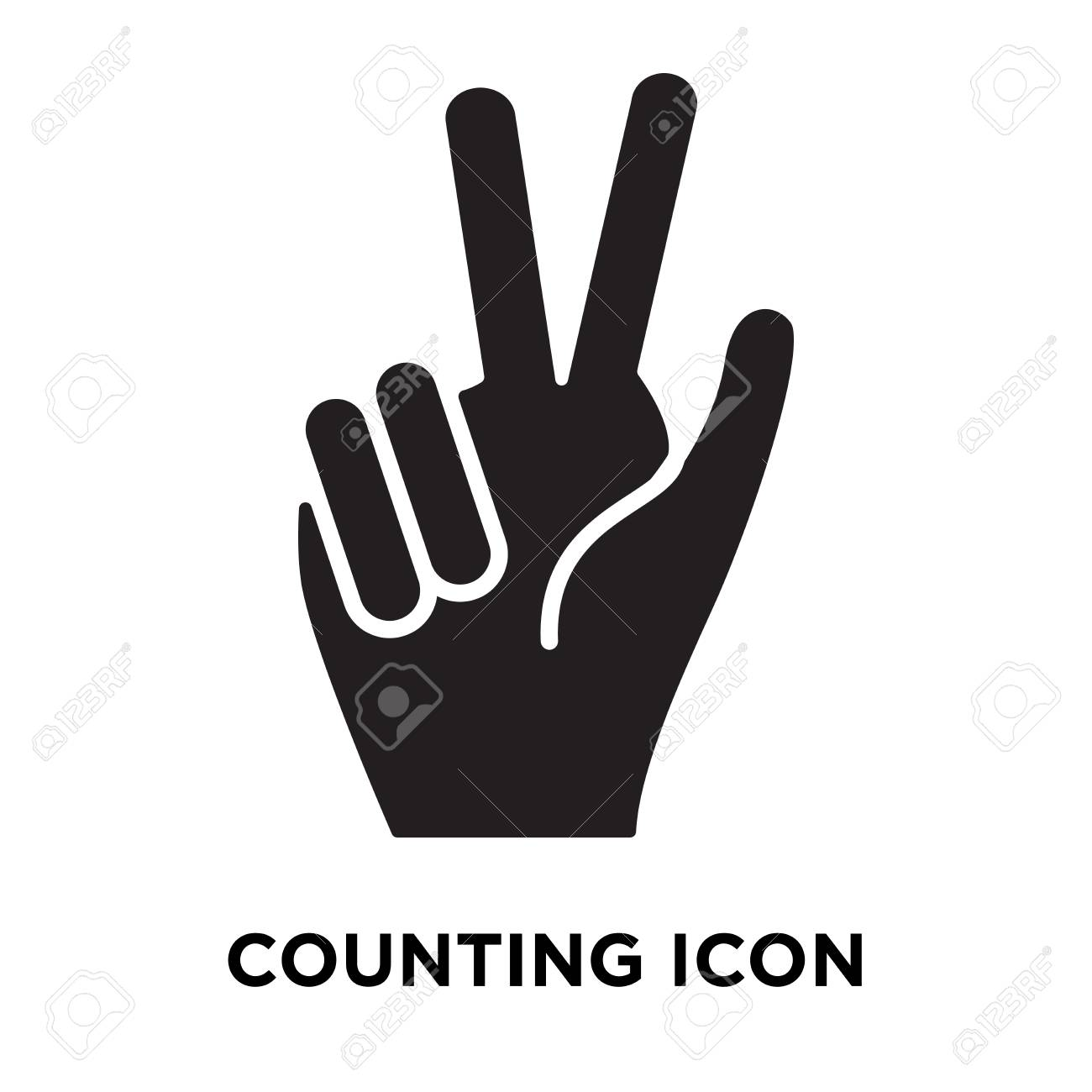 Counting Icon Vector Isolated On White Background Logo Concept 1300x1300