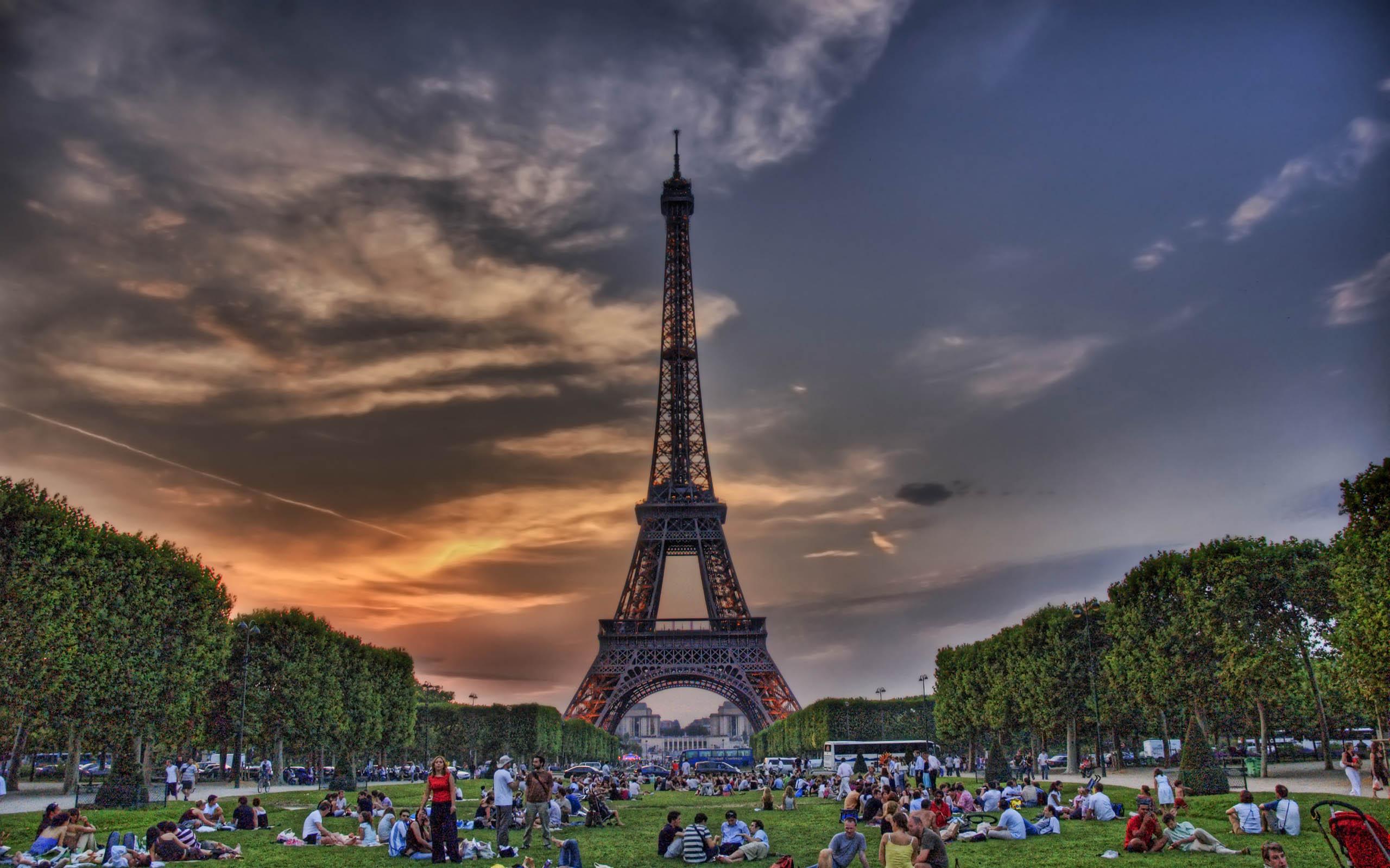 природа страны архитектура Марсово поле Париж Франция  № 824108  скачать