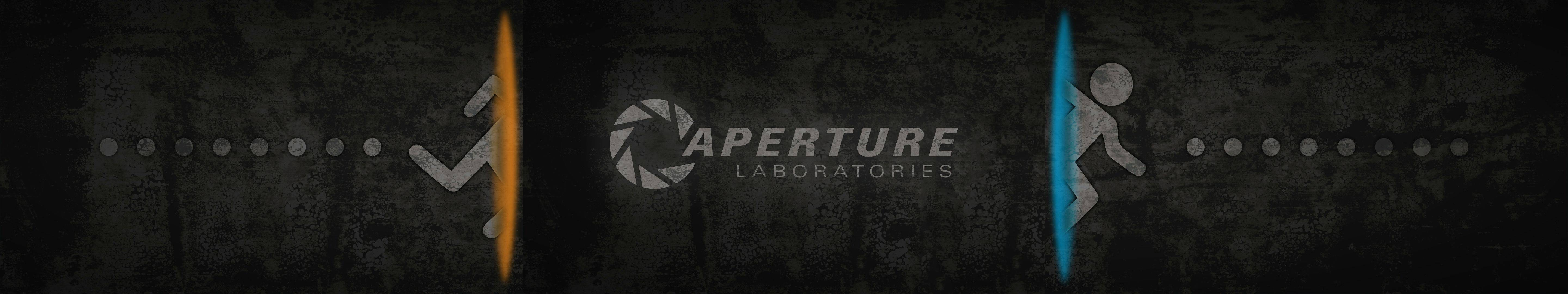 Portal 2 Dual Screen Wallpaper gaming 5760x1080