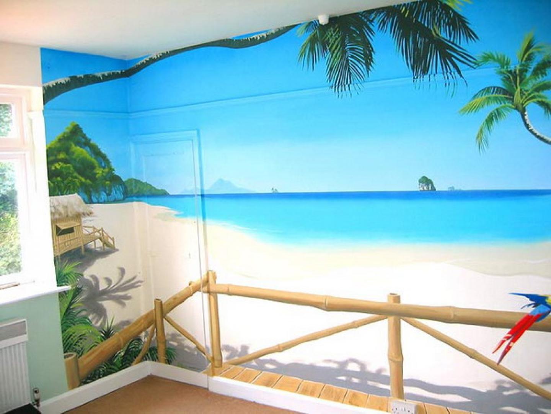 Tropical beach wall murals design best wall murals gallery 1440x1080