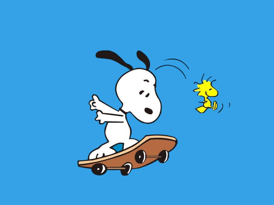Snoopy Spring Desktop Wallpaper 900x675