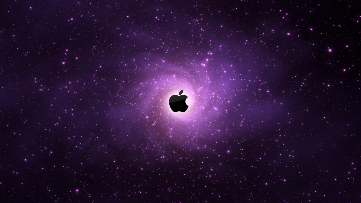 1366x768 Apple Galaxy desktop PC and Mac wallpaper 1366x768