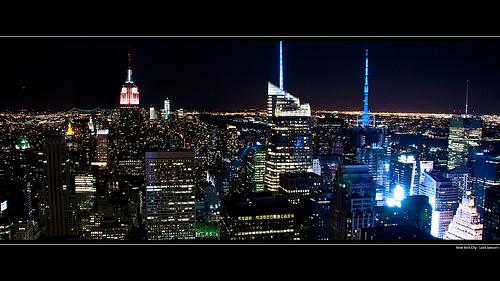 NYC Skyline Manhattan Night Wallpaper desktop background 1920 x 1080 500x281