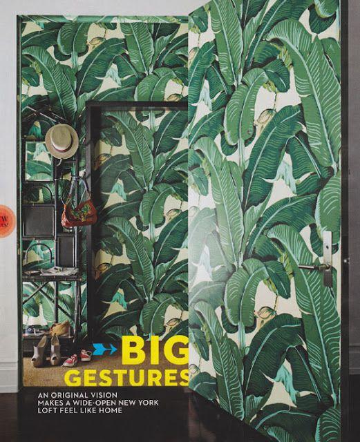 Martinique banana leaf wall paper Decor Pinterest 521x640