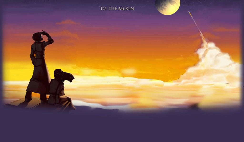 To The Moon Wallpaper Wallpapersafari