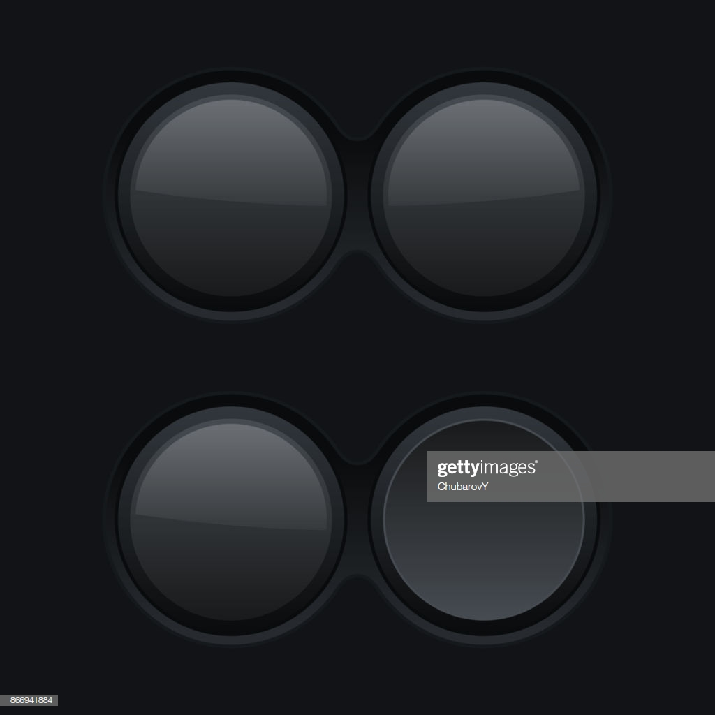 Round Black Plastic Buttons On Matted Background stock vector 1024x1024