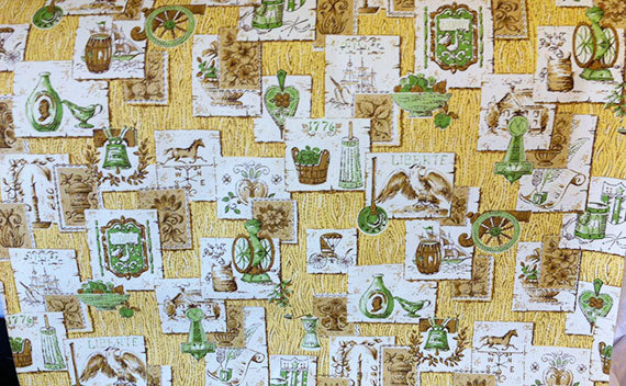 Vintage Retro Vinyl Kitchen Wallpaper by PamelasPlumes on Etsy 570x352