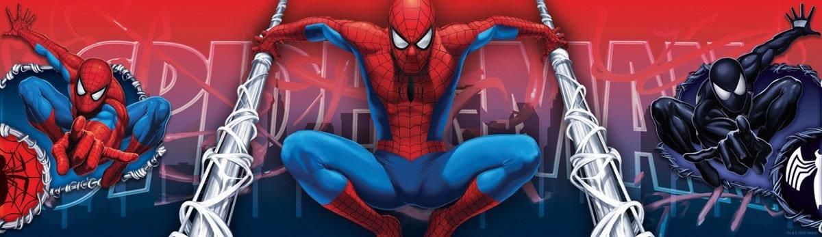 Childrens Rooms Spiderman Spiderman Self Adhesive Bedroom Border 1200x347