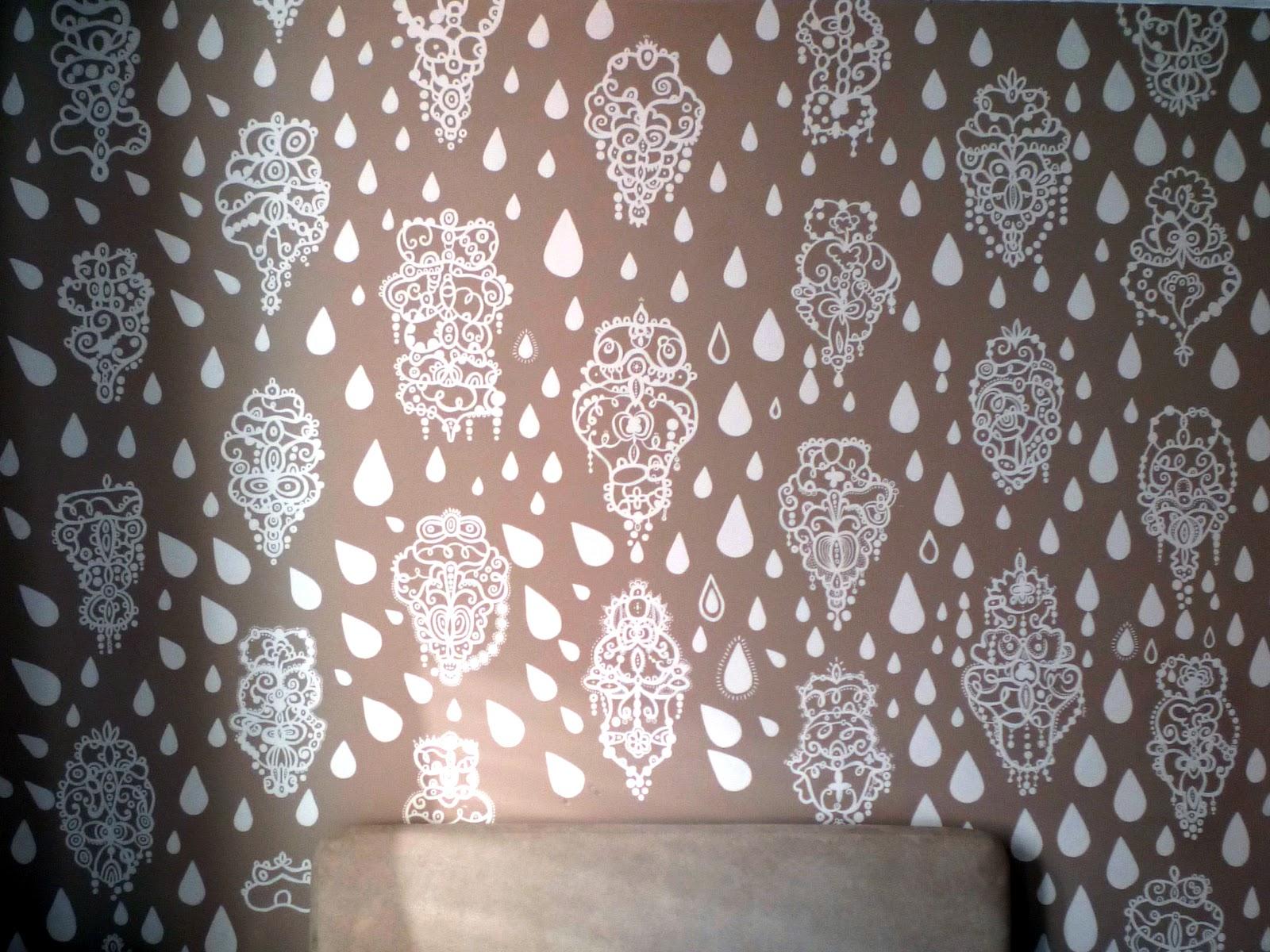 David Dangerous Hand Painted Wallpaper   Mural 1600x1200