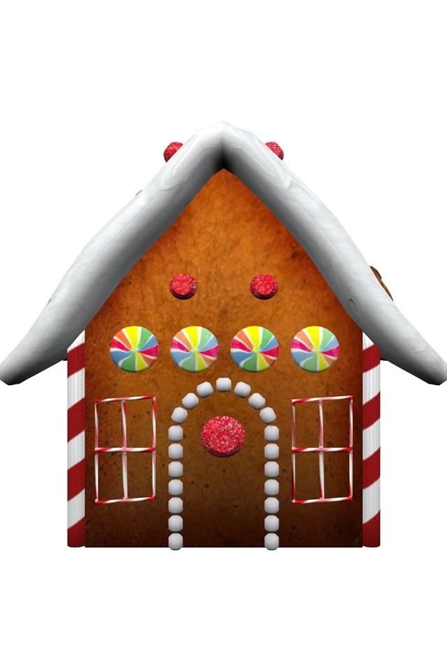 hd cute christmas house iphone 4 wallpapers backgrounds 640x960