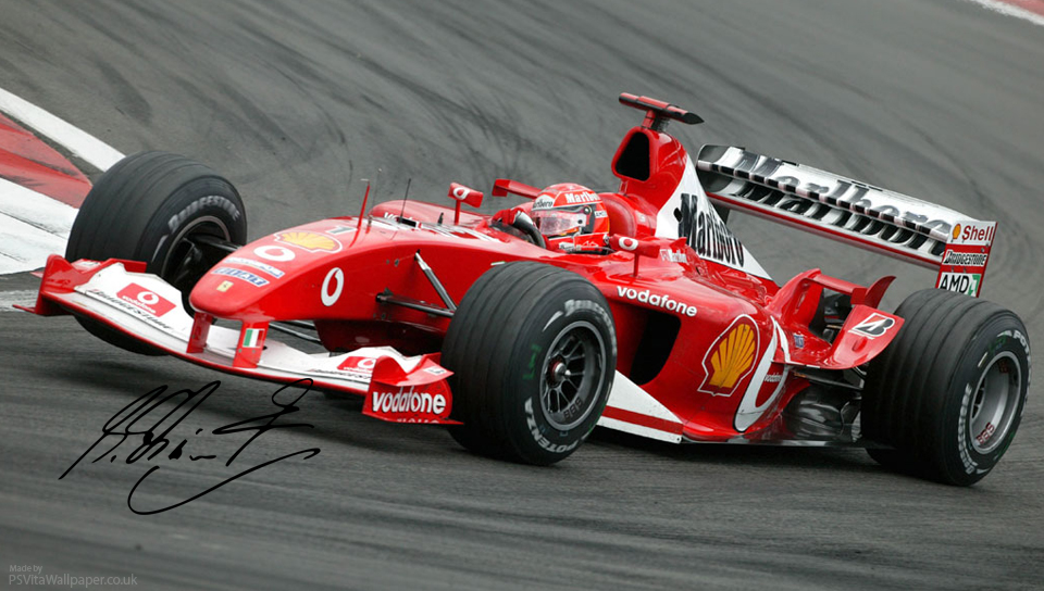 Michael Schumacher Ferrari F1 PS Vita Wallpaper 960x544