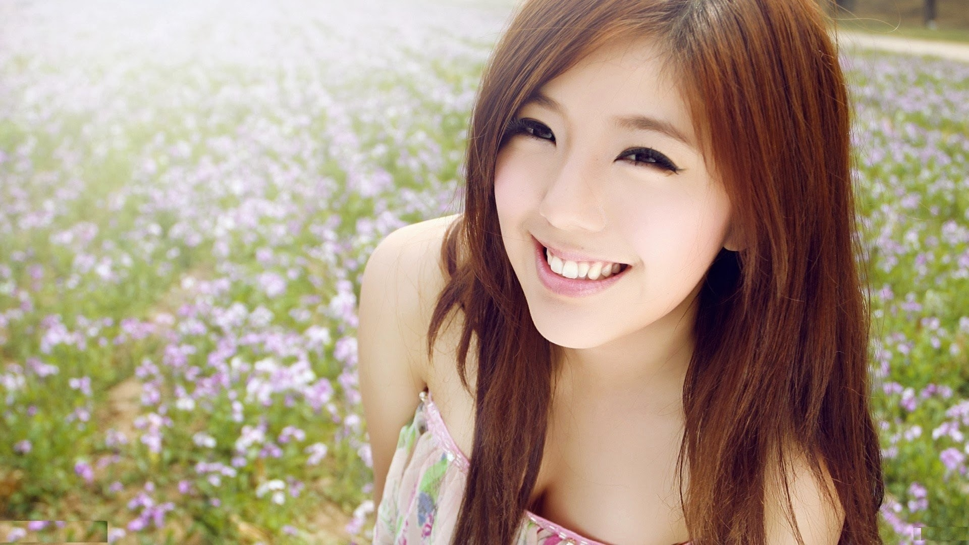 Beautiful asian girl cute smile eyes hd wallpaper 1920x1080 1920x1080