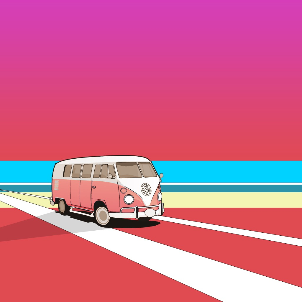 Camper Van Wallpaper iPad 2 Wallpaper Miscellaneous iPad 2 Wallpaper 1024x1024