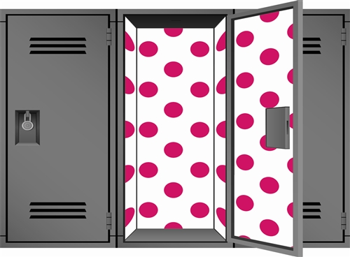 Polka Party Magnetic Locker Wallpaper Designz Perfect 500x368
