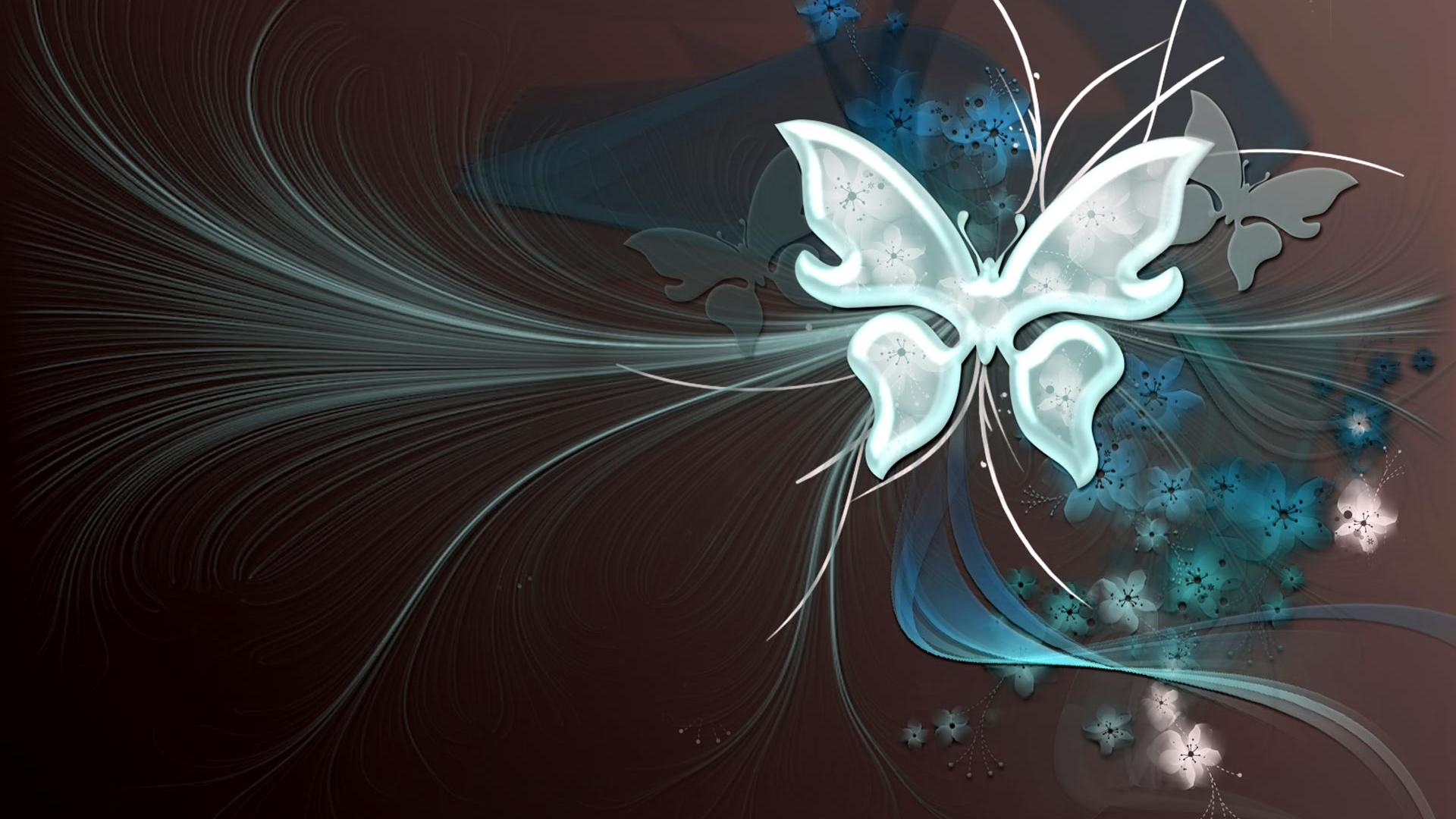 Butterfly Vector Art Background HD Wallpaper of Vector 1920x1080