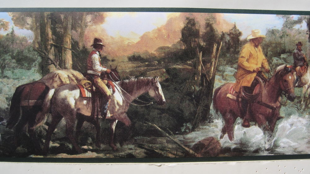 TRAIL RIDING on HORSEBACK OLD WEST Wallpaper Border 6 78 eBay 1000x561
