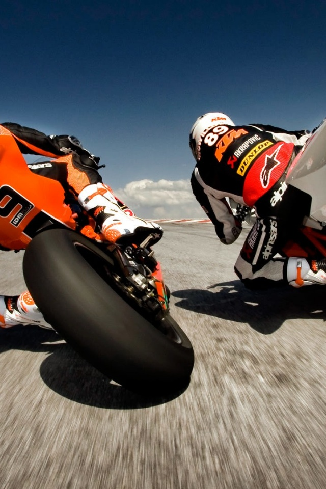 640x960 KTM Bikes Racing Iphone 4 wallpaper 640x960